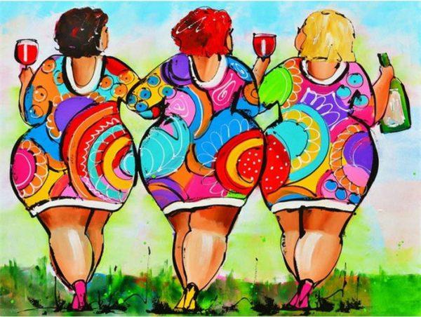 Dikke-dames-schilderen-apeldoorn-assen-workshop-uitje-wijn-urbanheart