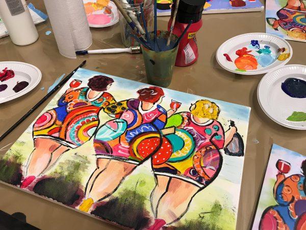 Dikke-dames-schilderen-groningen-leeuwarden-workshop-uitje-urbanheart