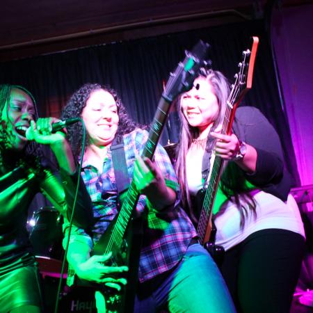 Muziek gitaar zingen teamwork vrouwen