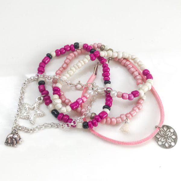 armbandjes-roze-zilver-ibiza-workshop-diy-pakket-groningen-zwolle